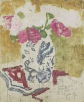 George Hendrik Breitner Vase with Pink Flowers