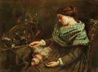 Gustave Courbet The Sleeping Spinner