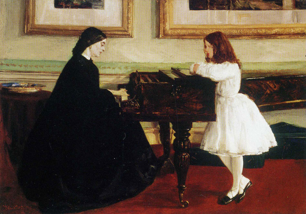 James Abbott McNeill Whistler - At the Piano