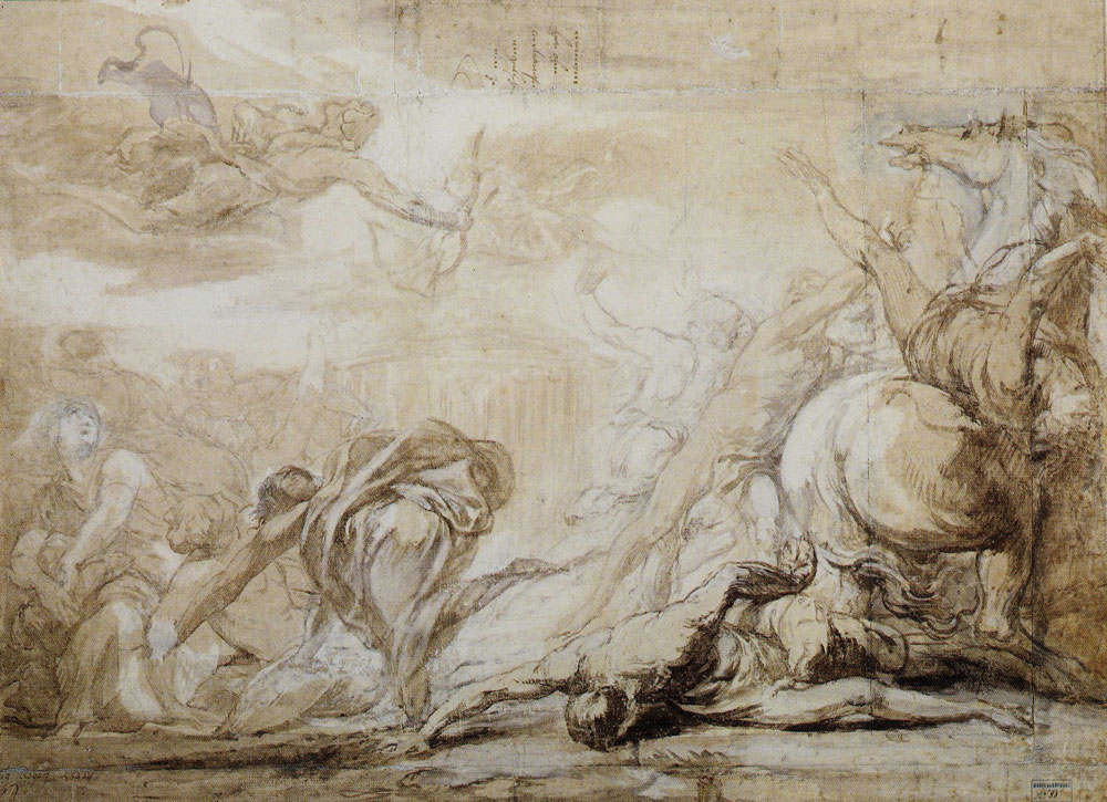 Jan Boeckhorst - Apollo and Artemis Kill Niobe's Children