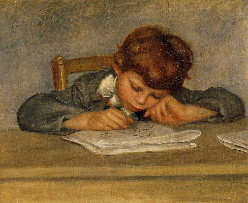 Pierre-Auguste Renoir - The Artist's Son, Jean, Drawing