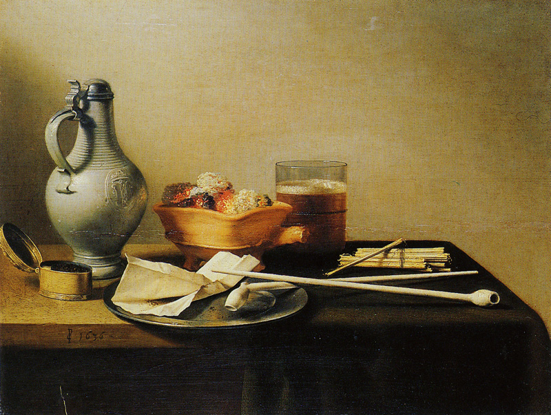 Pieter Claesz. - Pipes and Brazier