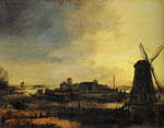 Aert van der Neer - Landscape with a Mill
