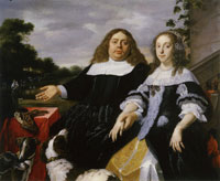 Bartholomeus van der Helst Portrait of Jan Jacobsz. Hinlopen and Lucia Wijbrants