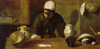 Diego Velazquez Kitchen Scene with the Supper at Emmaus