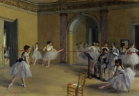 Edgar Degas The Dance Foyer of the Opera at rue Le Peletier