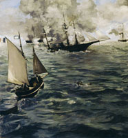 Edouard Manet The Battle of the U.S.S. 'Kearsarge' and the C.S.S. 'Alabama'