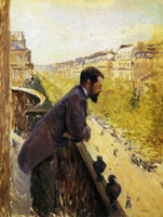 Gustave Caillebotte Homme au balcon