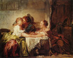 Jean-Honoré Fragonard A Kiss Won