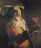 Judith Leyster - Laughing Youth with a Wine Glass