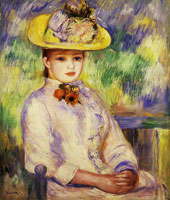 Pierre-Auguste Renoir Girl in a Yellow Hat