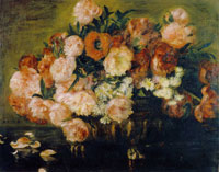 Pierre-Auguste Renoir Still Life with Peonies and Poppies