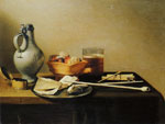 Pieter Claesz. Pipes and Brazier