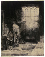 Rembrandt - A Scholar in his Study ('Faust')