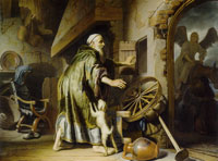 Circle of Rembrandt Tobit at his son's return