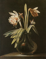 Simon Verelst Flowers in a Vase