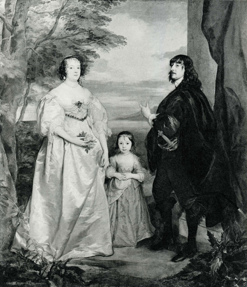 Anthony van Dyck - James Stanley, Lord Strange, Later Seventh Earl of Derby, with His Wife, Charlotte, and Their Daughter