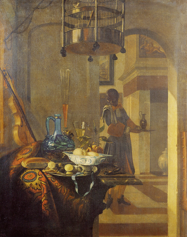 Hendrik van Streek - Black Servant and a Laid Table
