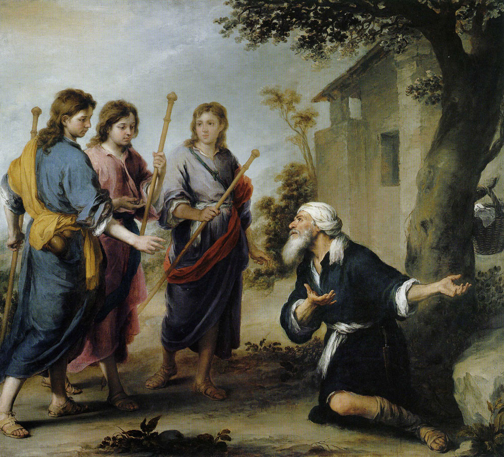 Bartolomé Esteban Murillo - Abraham and the Three Angels