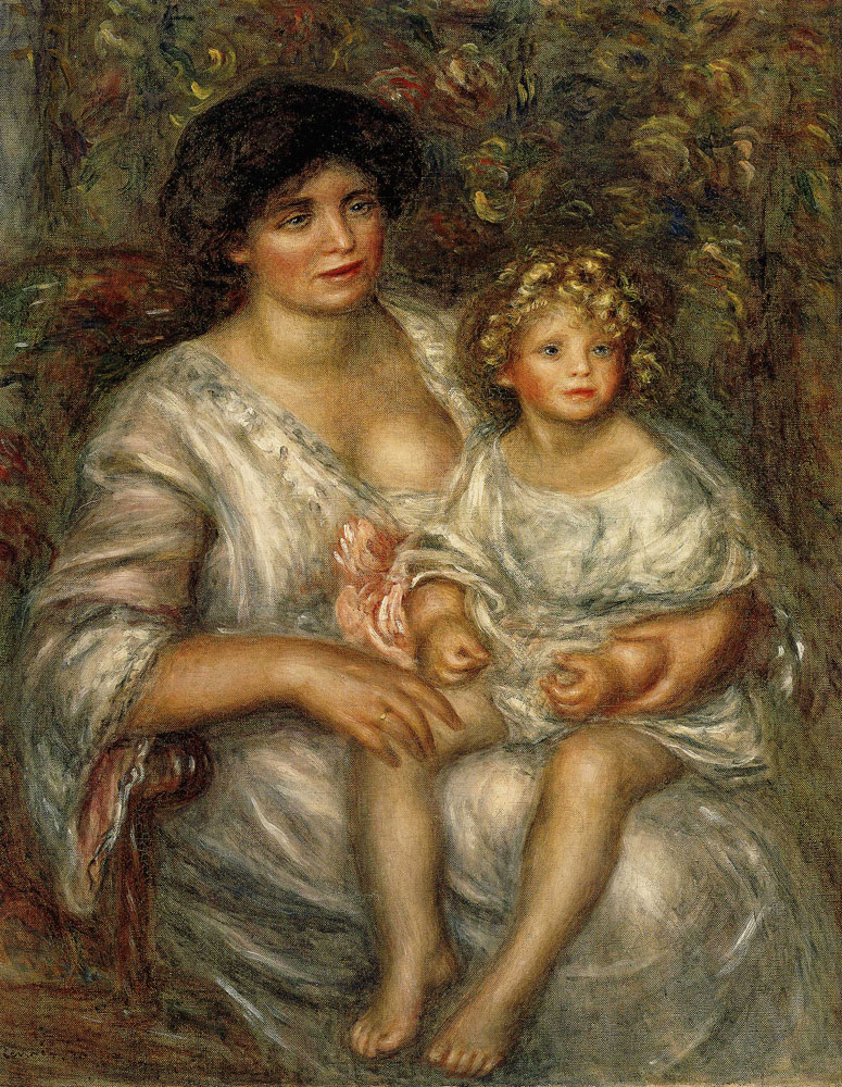 Pierre-Auguste Renoir - Mother and Child (Madame Thurneyssen and Her Daughter)