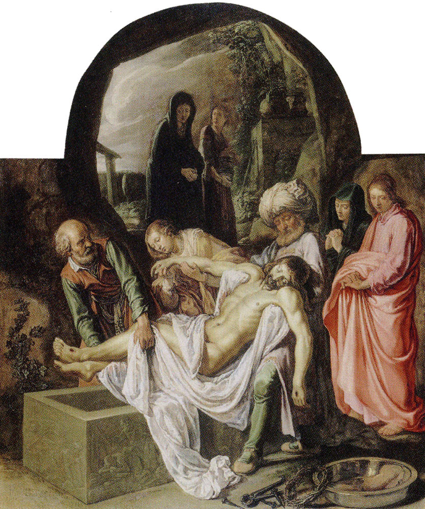 Pieter Lastman - The Entombment of Christ