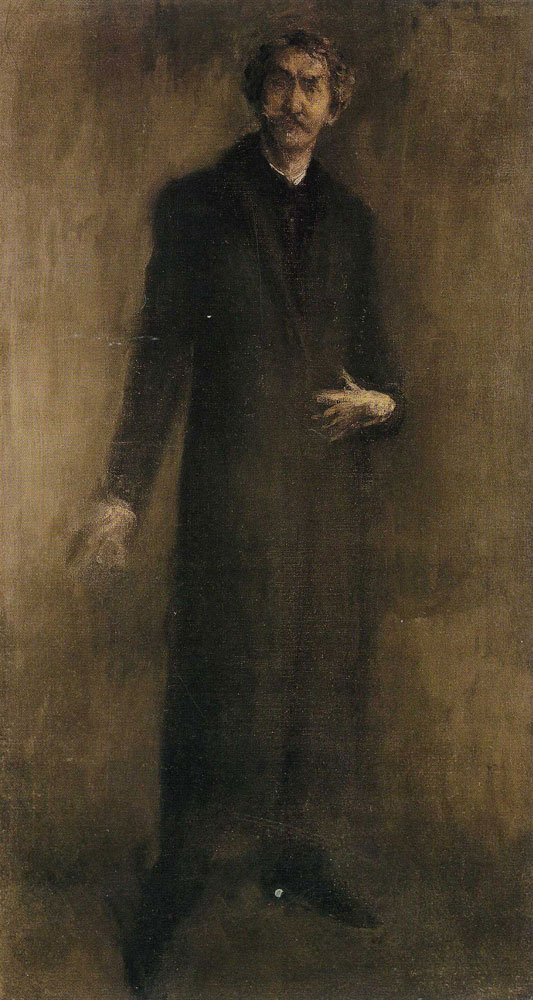 James Abbott McNeill Whistler - Brown and Gold: Self-Portrait