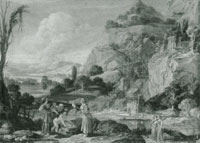 Bartholomeus Breenbergh Landscape with the Finding of Moses