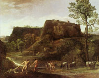 Domenichino Landscape with Hercules and Cacus