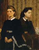 Edgar Degas The Bellelli Sisters (Giovanna and Giuliana Bellelli)
