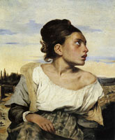 Eugène Delacroix Orphan Girl in a Cemetery