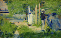 Georges Seurat Man Painting a Boat