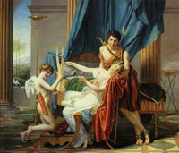 Jacques-Louis David Sappho, Phaon, and Cupid