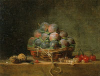Jean-Siméon Chardin - Basket of Plums