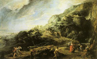 Peter Paul Rubens Landscape with Odysseus and Nausicaa