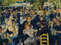 Pierre-Auguste Renoir Ball at the Moulin de la Galette