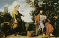 Pieter Lastman Christ and the Woman of Samaria
