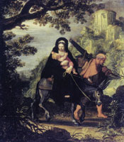 Pieter Lastman The Flight to Egypt