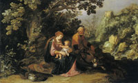 Pieter Lastman Rest on the Flight to Egypt