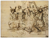Rembrandt Satire on Art Criticism