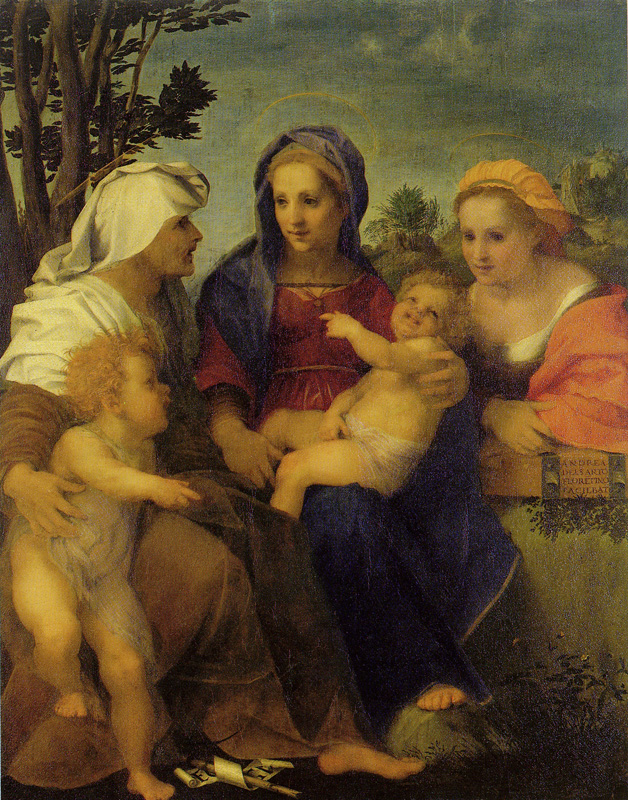 Andrea del Sarto - Madonna and Child with St. Catherine, St. Elizabeth, and John the Baptist