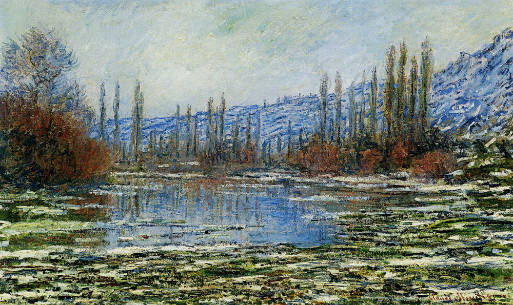 Claude Monet - The Thaw at Vétheuil