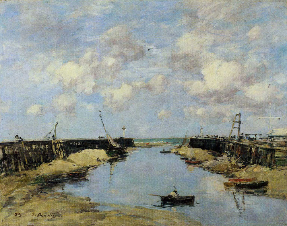 Eugène Boudin - The Entrance to Trouville Harbour