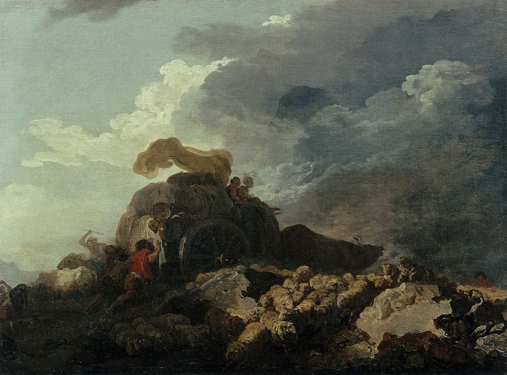 Jean-Honoré Fragonard - The Storm (The Stuck Cart)