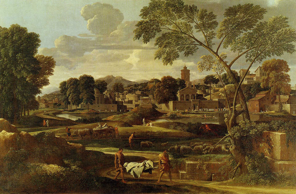 Nicolas Poussin - Landscape with Burial of Phocion