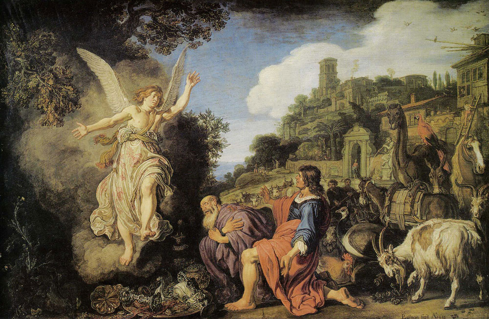 Pieter Lastman - The Angel Leaves Tobias and His Son