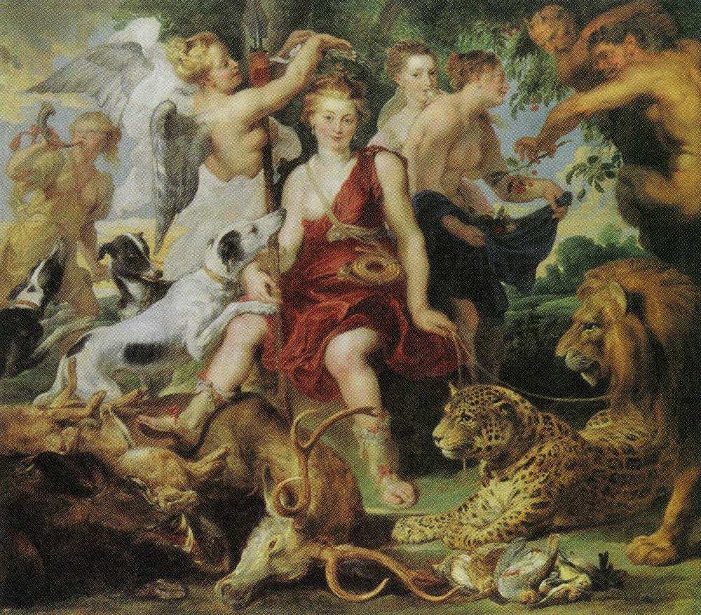 Peter Paul Rubens and Frans Snyders - The Crowning of Diana