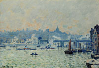 Alfred Sisley View of the Thames: Charing Cross Bridge