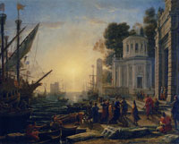 Claude Lorrain The Disembarkation of Cleopatra at Tarsus
