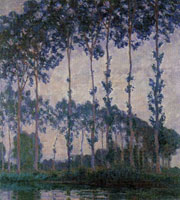 Claude Monet Poplars on the Bend in the Epte River, Overcast Weather