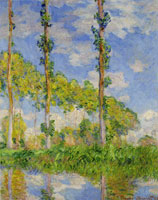 Claude Monet Poplars in the Sun